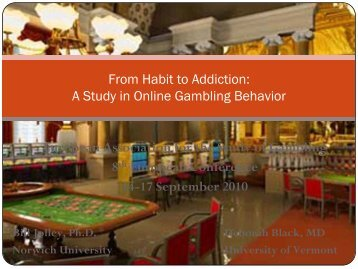 From Habit to Addiction - European Association for the Study of ...