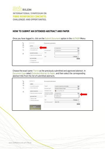 how to submit an extended abstract and paper - befib2012