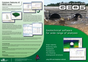 GEO5 Product Information Brochure