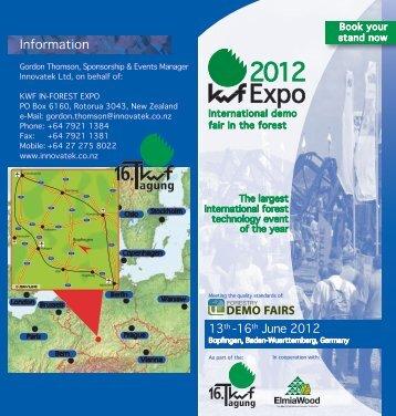 Folder KWF-Expo 2012 (englisch) - KWF-Tagung 2012