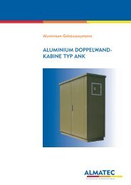ALUMINIUM DOPPELWAND- KABINE TYP ANK - Duelco