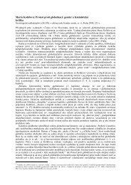 Marta Kolářová: Protest proti globalizaci: gender a feministická - SAV