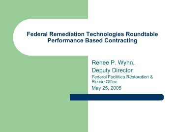 Performance-Based Contracting - Federal Remediation ...