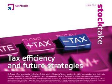 Tax efficiency and future strategies - Self Trade