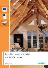 Regulátory prostorové teploty a příložné termostaty