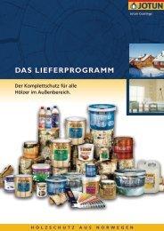 DAS LIEFERPROGRAMM - Handelsvertretung Reinhard Dierkes