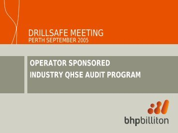 Service Company Auditing Proposal. - Drillsafe.org.au