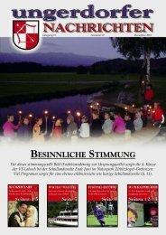 BESINNLICHE STIMMUNG - Gemeinde Ungerdorf