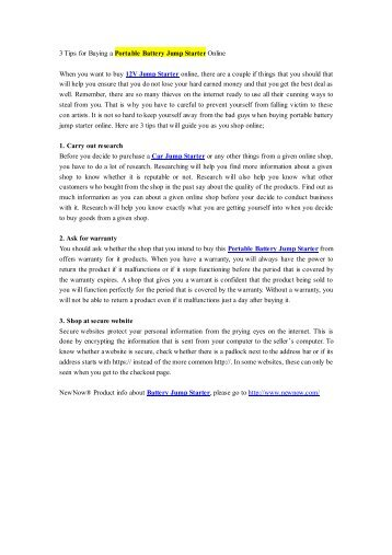 3 Tips for Buying a Portable Battery Jump Starter Online.pdf