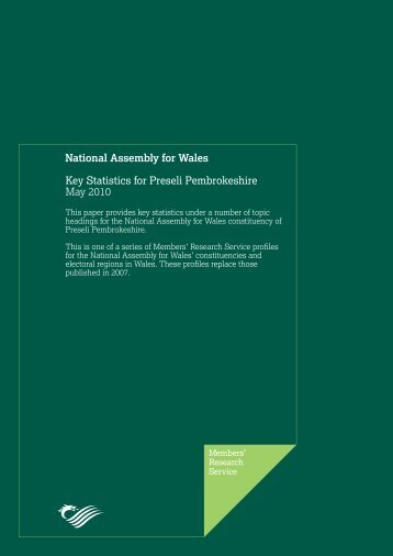 Key Statistics for Preseli Pembrokeshire - National Assembly for Wales