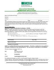 View Education Program Application