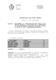 Modifiche a regolamento per la disciplina per gli incarichi esterni