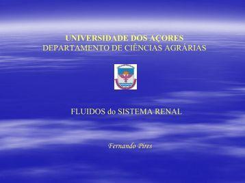 Fluidos do Sistema Renal - Universidade dos Açores
