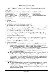 Side 1 af 2 Referat af møde 14. august 2002 i AAU's ... - WEST