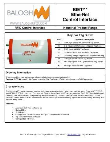BIET/** EtherNet Control Interface - Anixandra