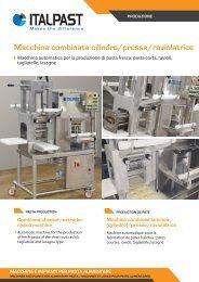 Macchina combinata cilindro/pressa/raviolatrice - Italpast