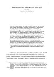 1 Ending Ambivalence: Australian Perspectives on Stability in Asia ...