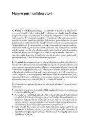 Norme per i collaboratori - il Mulino