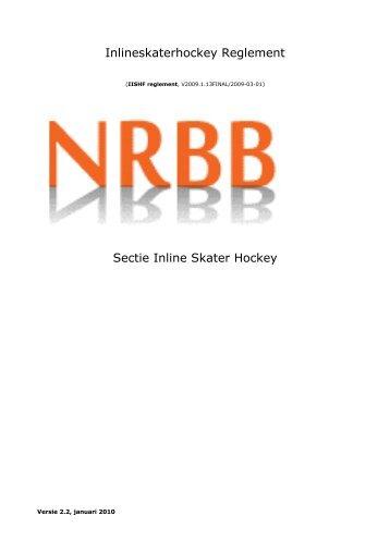 Inlineskaterhockey Reglement Sectie Inline Skater Hockey