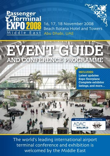 and conference programme - Passenger Terminal Expo