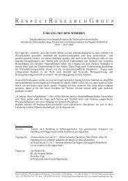 UMGANG MIT DEM ANDEREN - RespectResearchGroup