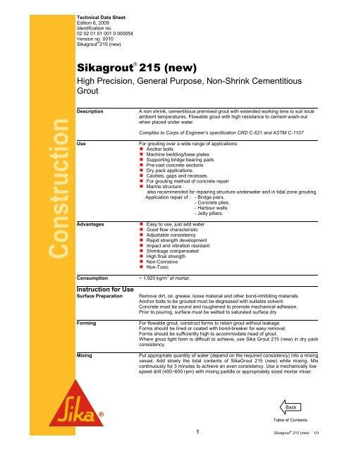 Sikagrout 215 (New) pdf - Jaya Raya Utama