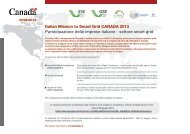 Italian Mission to Smart Grid CANADA 2013 - Corrente - Gse