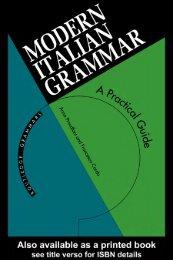 Modern Italian Grammar: A Practical Guide - gariban tavuk