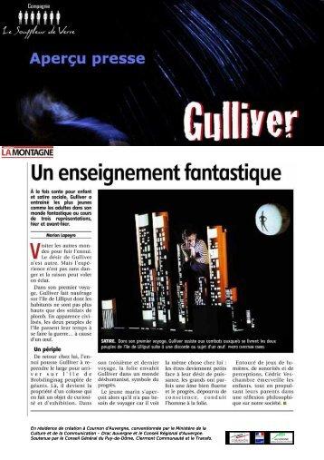 presse gulliver - compagnie LE SOUFFLEUR DE VERRE