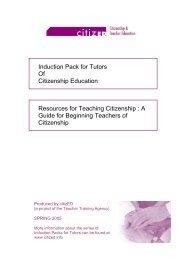 ASSOCIATION FOR CITIZENSHIP TEACHING - Citized