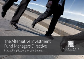 The Alternative Investment Fund Managers Directive - Nabarro