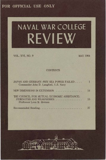 1964 May - US Naval War College