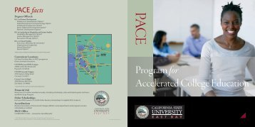 Program for Accelerated College Education - California State ...
