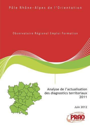 Analyse des diagnostics territoriaux 2011 - Région Rhône-Alpes