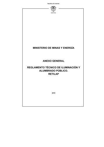 Reglamento Técnico de Iluminación y Alumbrado Público - Camacol