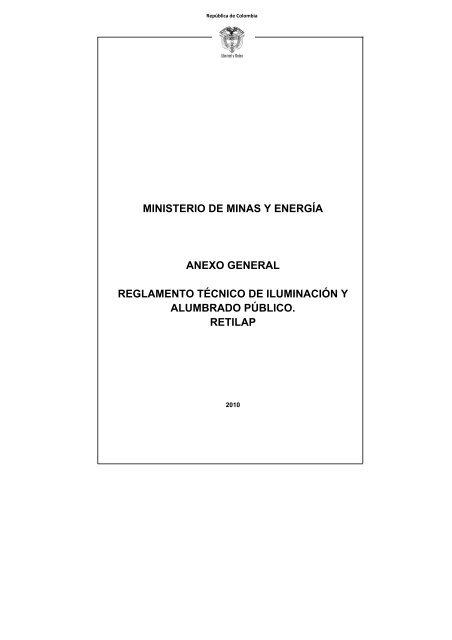 54c867fffbb5 Reglamento Técnico de Iluminación y Alumbrado Público - Camacol