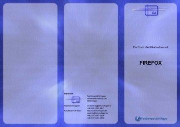 Firefox / Mozilla / Netscape - Zertifikatsserver - FernUniversität in ...
