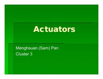 Actuators - COSMOS