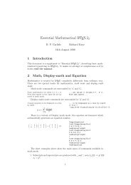 Essential Mathematical LaTeX