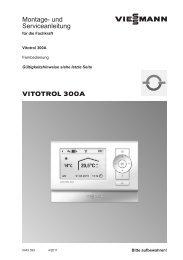 Montage- und Serviceanleitung - World of Heating
