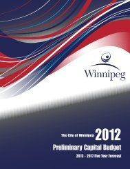 City of Winnipeg 2012 Preliminary Capital Budget