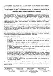 Ausschreibung 2014.pdf - Akademie der Wissenschaften in Hamburg