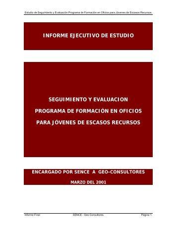 informe ejecutivo de estudio seguimiento y evaluacion programa de ...