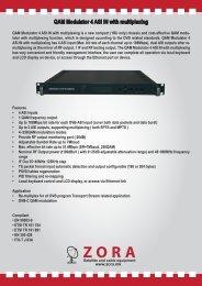 QAM Modulator 4 ASI IN with multiplexing
