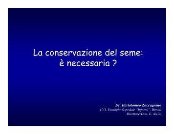 La conservazione del seme: è necessaria ? - Oncologia Rimini