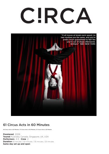 61 Circus Acts in 60 Minutes - ArKtype