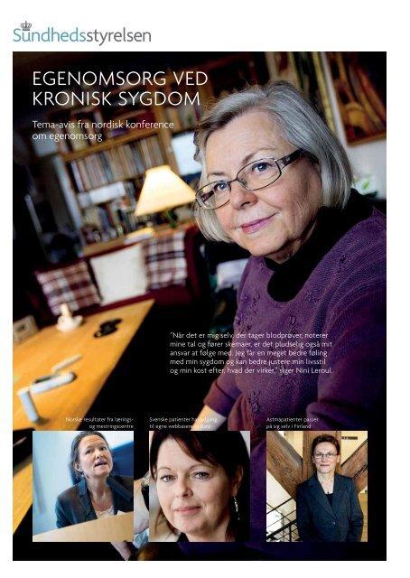 Tema-avis om egenomsorg ved kronisk sygdom - Sundhedsstyrelsen