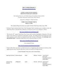 Nobel Peace Prize Forum - The Tandem Project