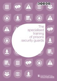 The specialised training of prisons security guards - Generalitat de ...