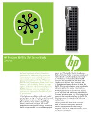 HP ProLiant BL490c G6 Server Blade- Data sheet - GovConnection